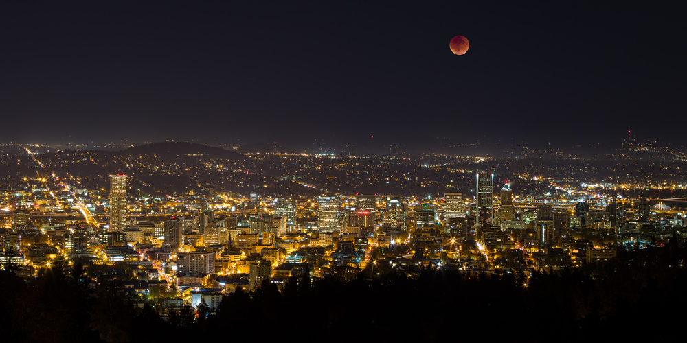 Blood Moon Over Portland