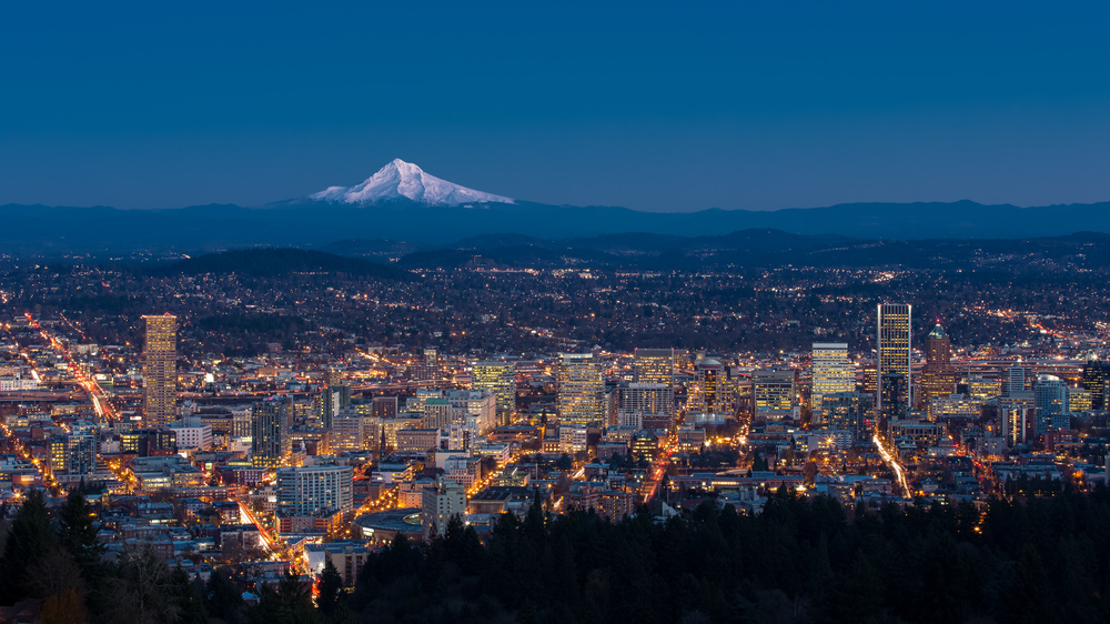 PDX Winter Blue Hour