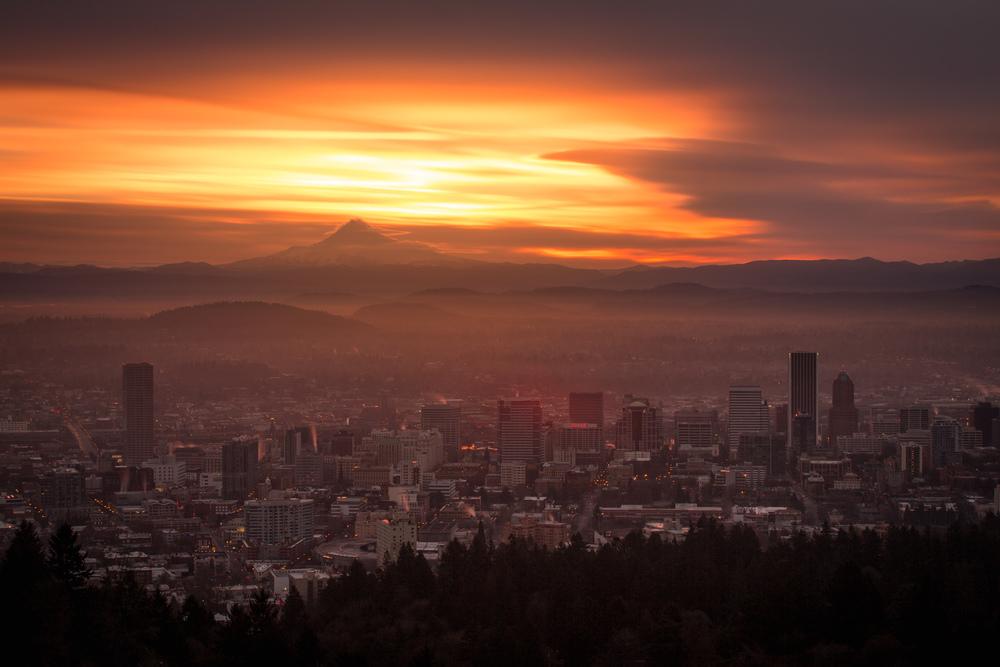 Burnt Sky Over Portland