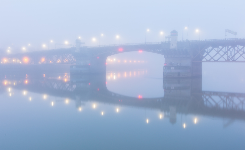 Burnside Bridge in Dawn's Fog