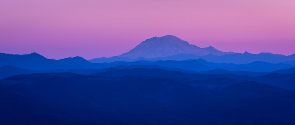 Mt St Helens Dawn Layers