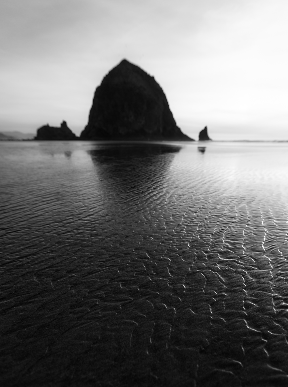 Sand Ripples at Haystack Rock