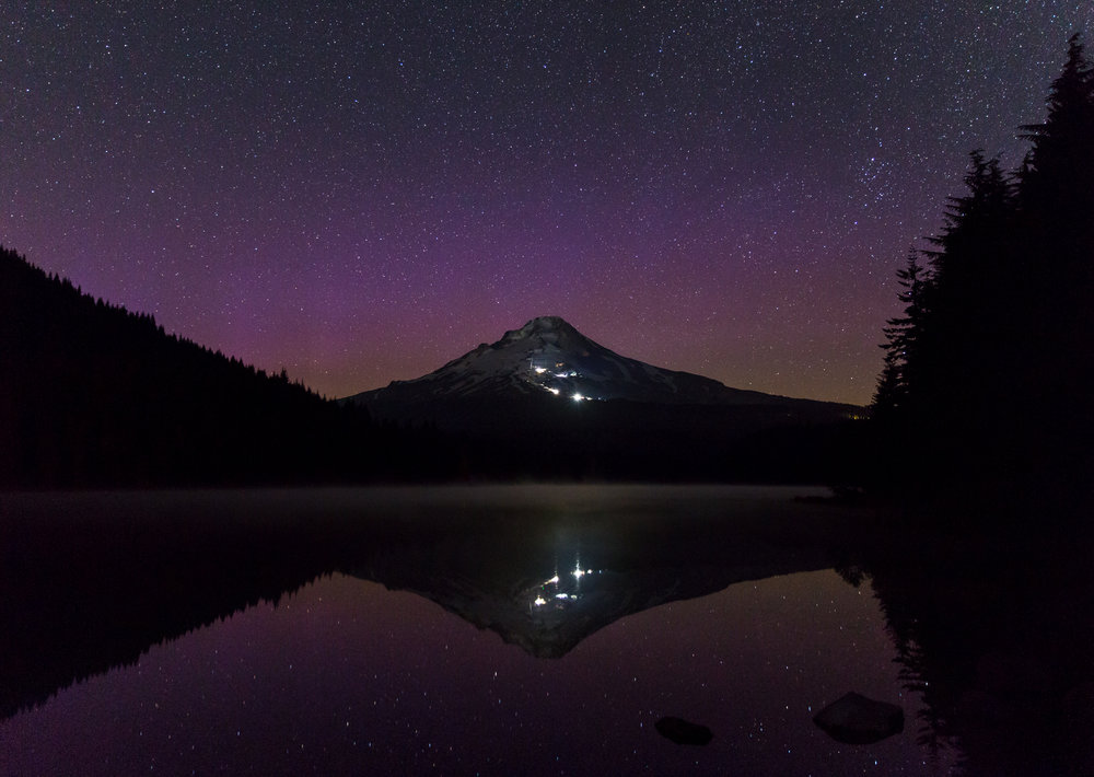 Aurora Borealis Over Trillium Lake