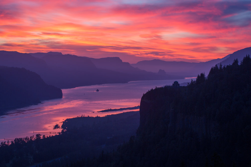 Columbia River Gorge Fireworks