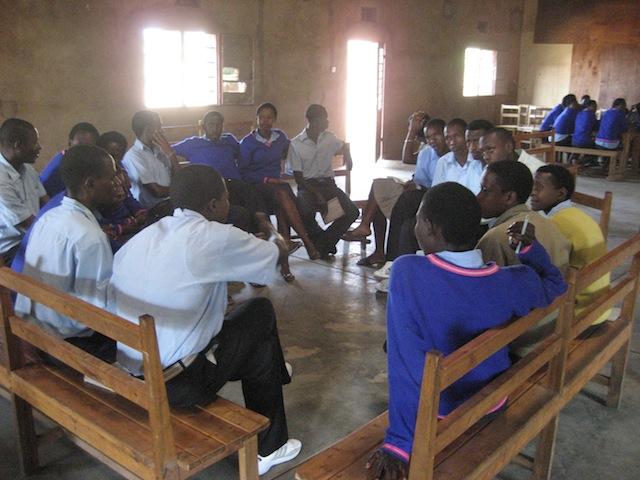 Senior class meets at Remera Mbogo.