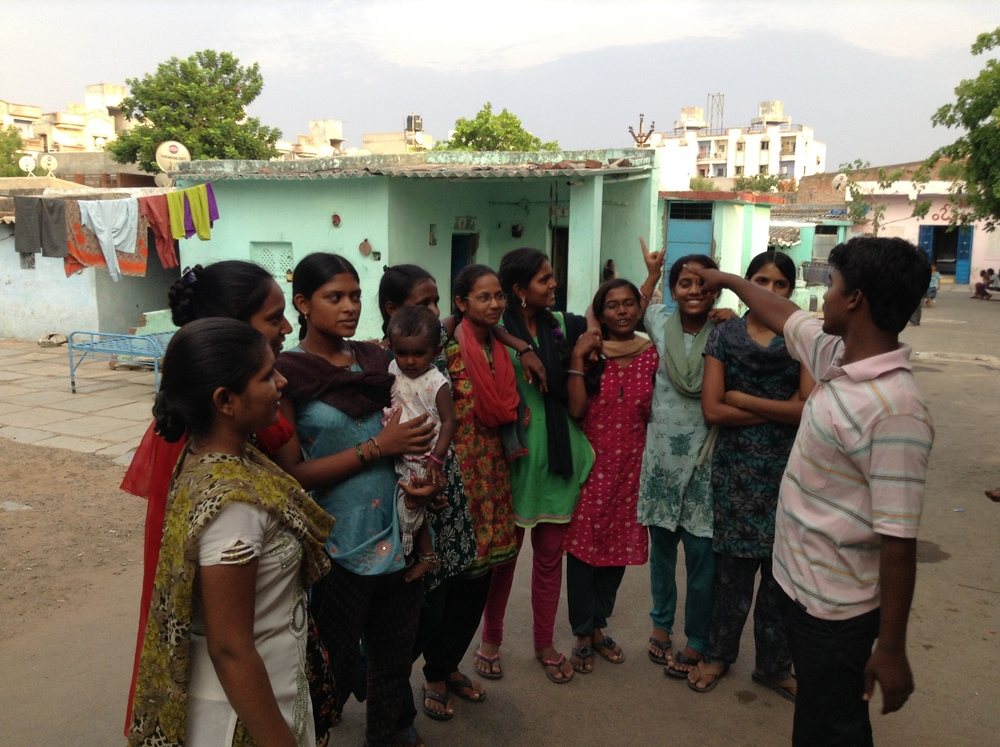 Members of a youth leadership group in action at the Gandhi Leprosy Seva Sangh .