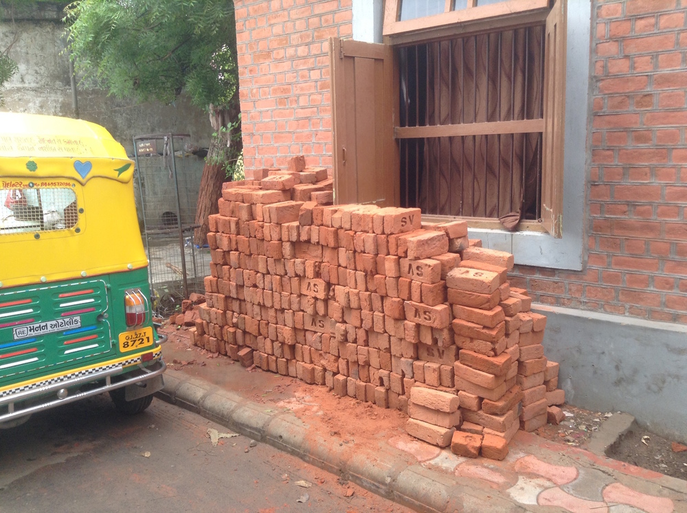We receive our brick order to build new walls.