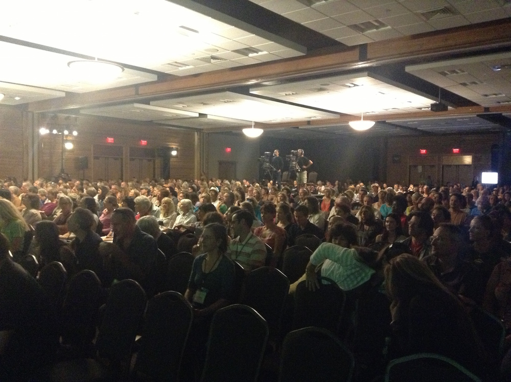 1,000 strong in attendance to hear me and Jack Kornfield speak (but more for Jack, of course!).