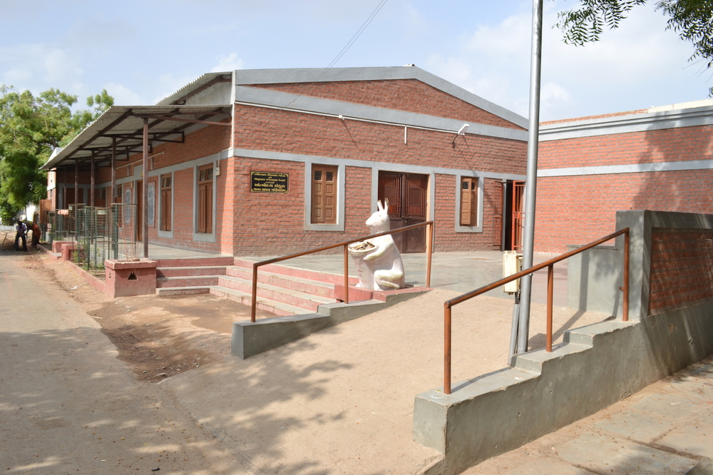 The Upasana Mandir community center where community functions are held.