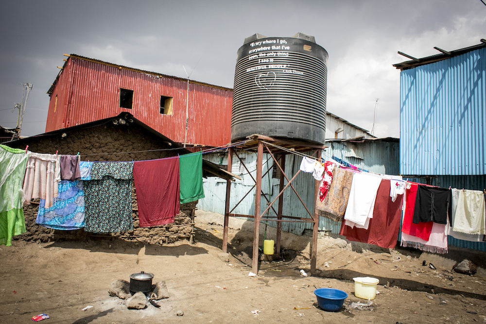 A water tank system for selling clean water to support the center's overhead.     Photo: Unni Raveendranathen