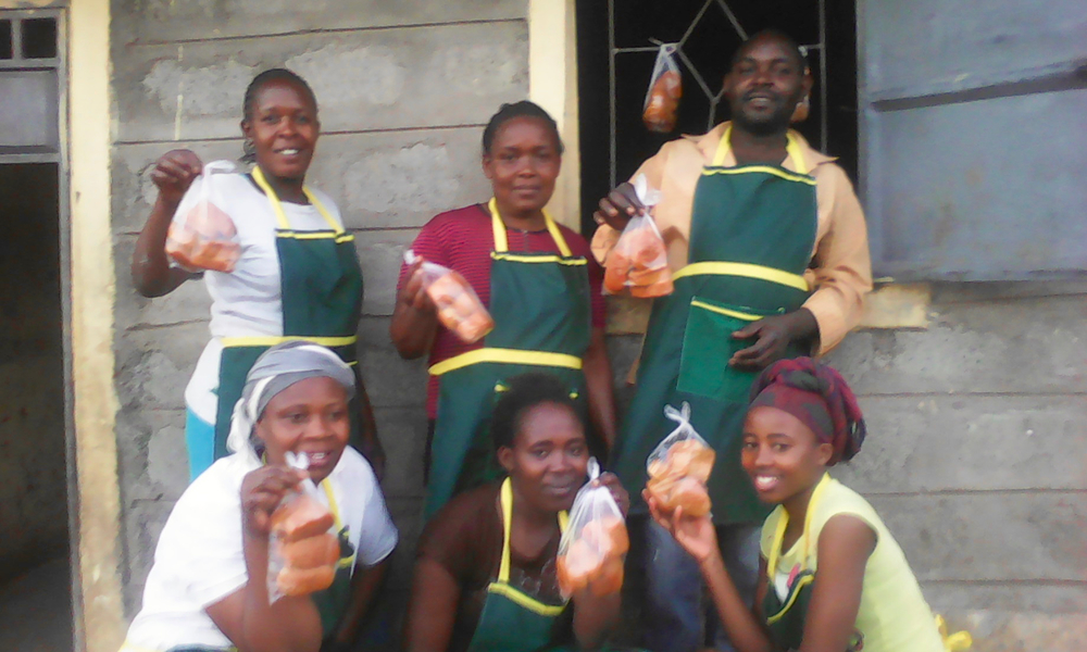 Members of the Malezi Parents Initiative after the launch of their cake baking business.