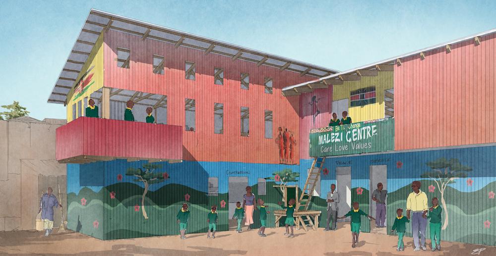 Artist's rendering of the new Malezi annex.