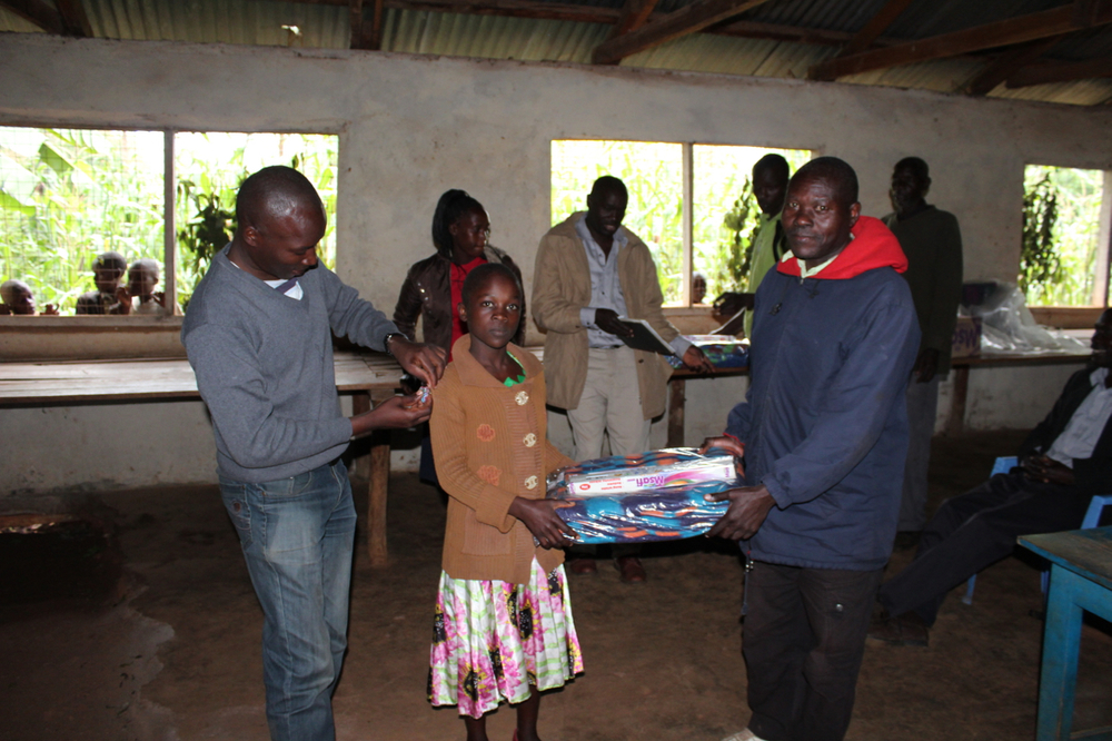 Each received a durable blanket, large bar of soap, and pair of nail clippers.