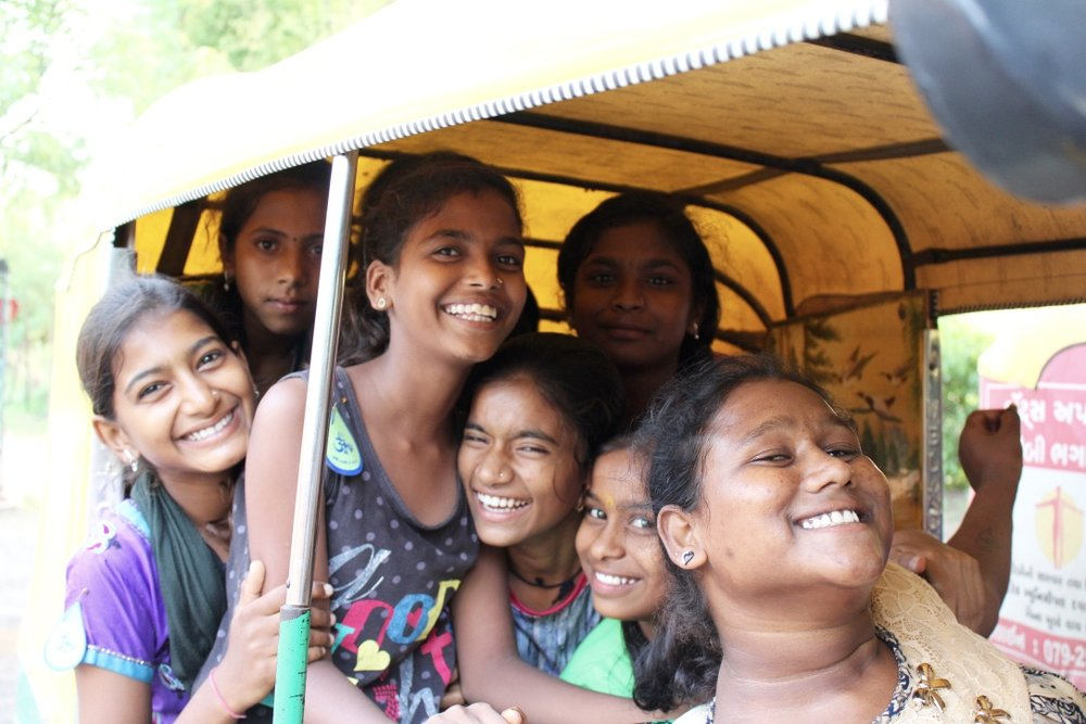 Rikshaw ride home bristled with smiles.