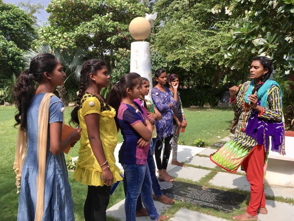 Aruna Chauhan with 2017 Girls Circle members.