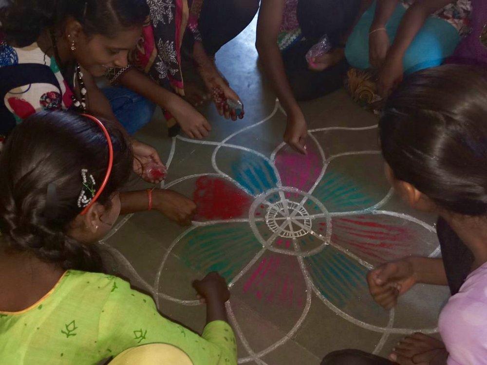 Aruna leading a session.