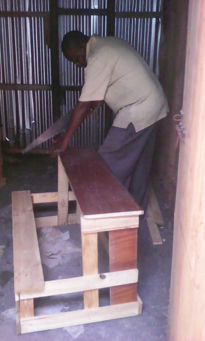 Desk construction.
