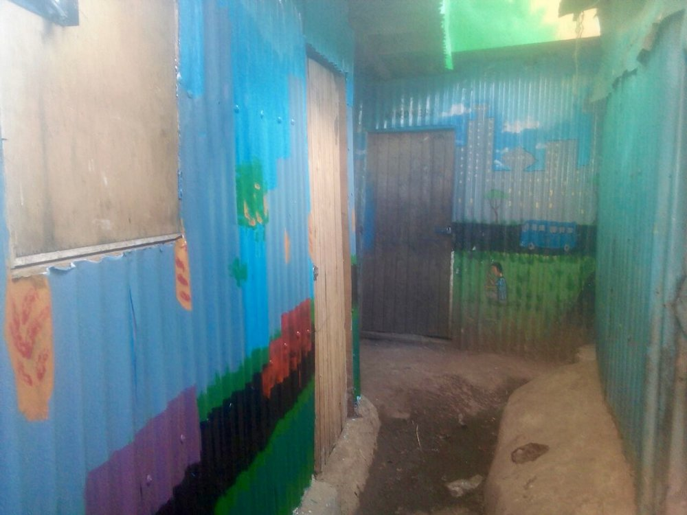 Downstairs paint job.