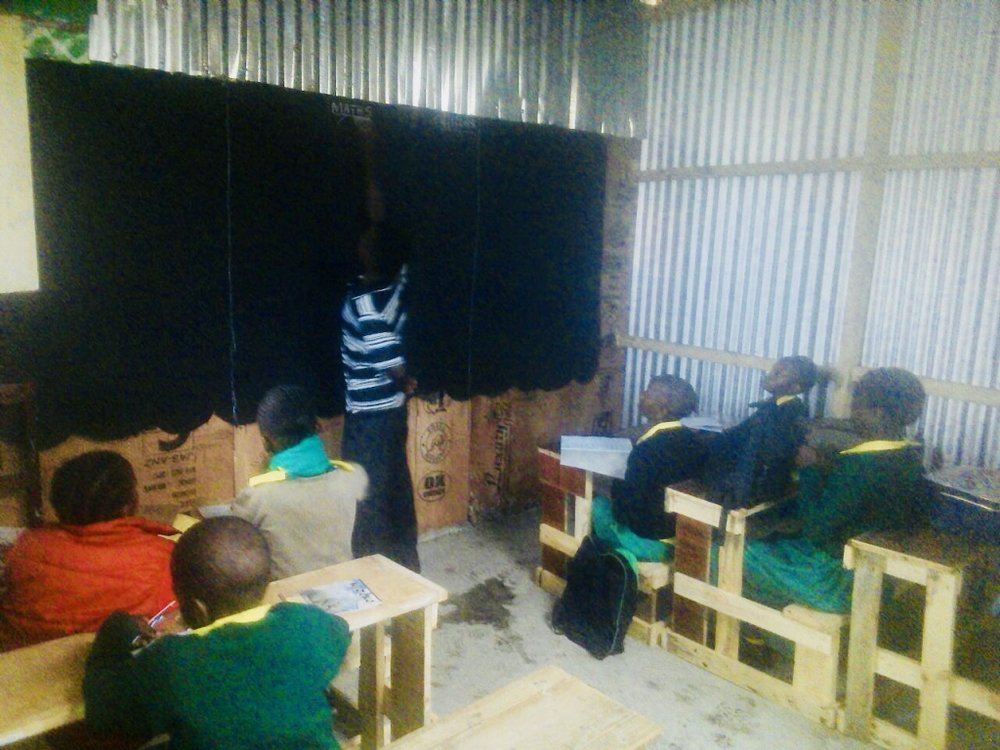 New classroom in use.