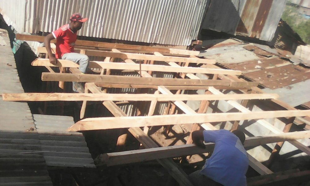 Raising the roof.