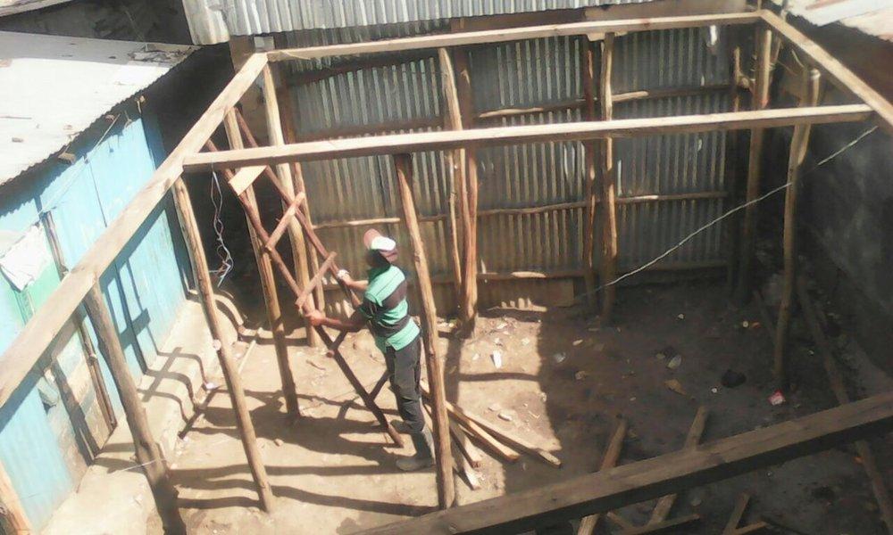 Start of construction.