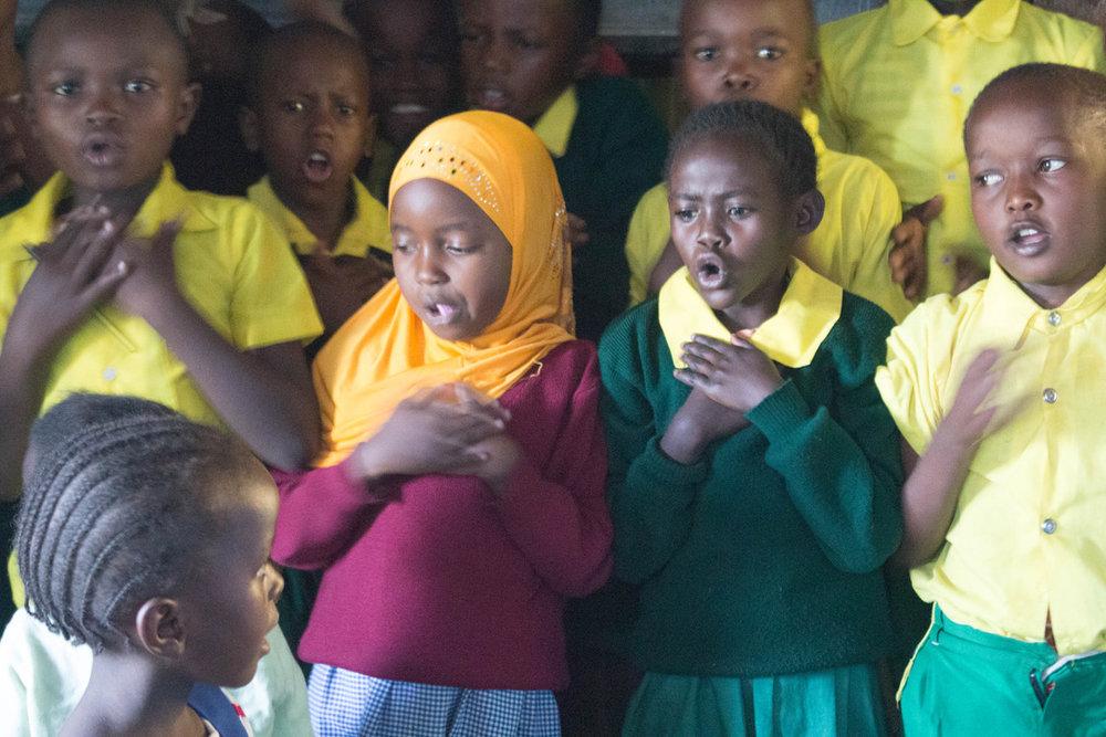 Students perform.