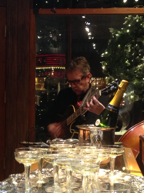 Champagne and live music!
