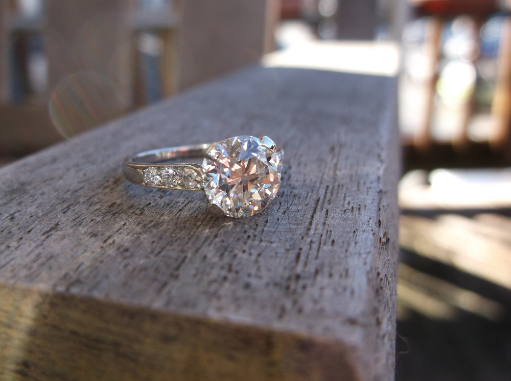 SOLD - Absolutely stunning all original Tiffany and Co. 1.86 carat diamond ring from the 1920's.