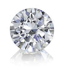 A Round Brillant cut diamond.