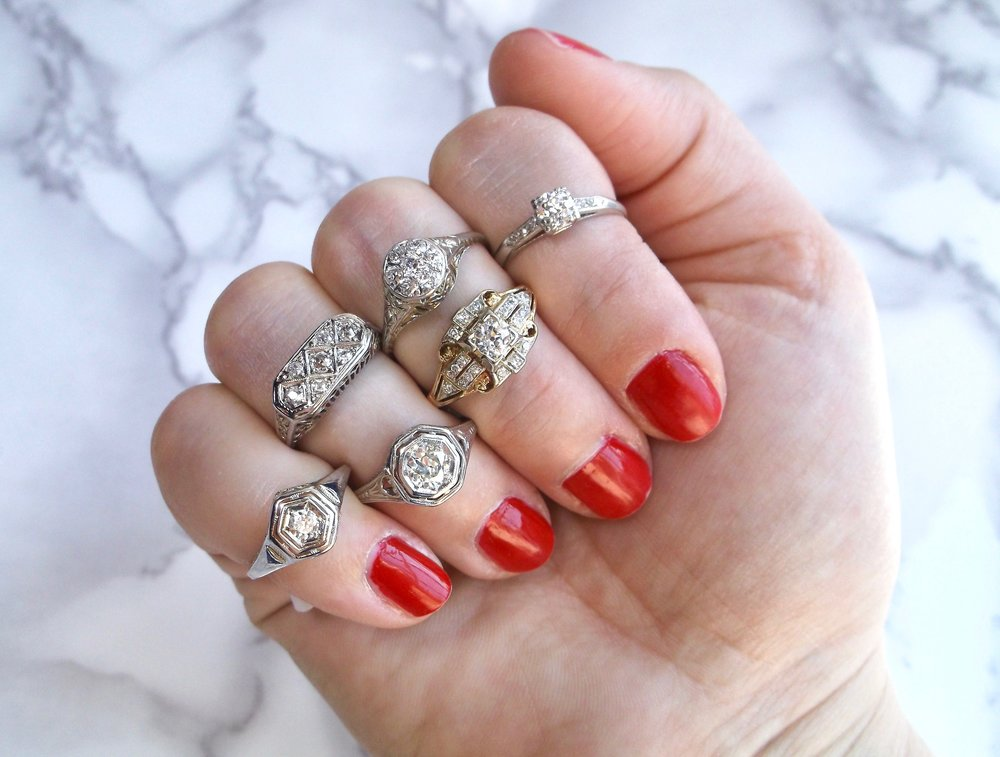 These Art Deco beauties pack a punch with their look, but not with their price! Shop all of these diamond rings  HERE.