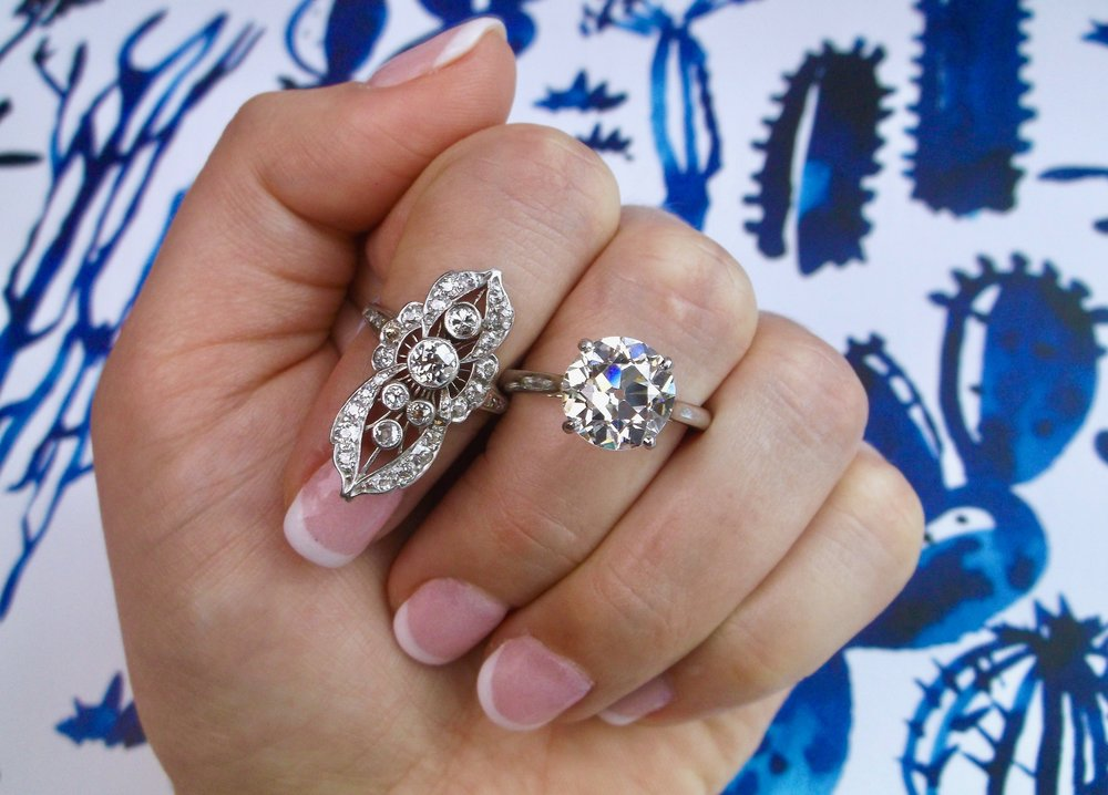 Classic or bold?? (...we don't think you can go wrong with either Art Deco diamond ring!) Shop these beauties  HERE  and  HERE .