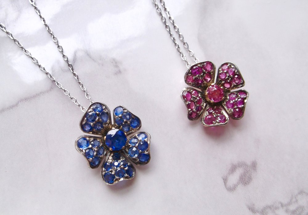 Rubies are red, violets are blue... Shop these beauties  HERE  and  HERE .