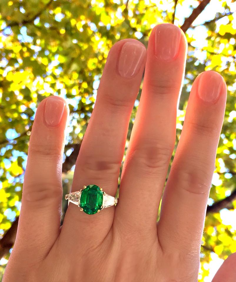 Going green with this jaw droppingly gorgeous emerald and diamond ring! Shop this stunner  HERE .
