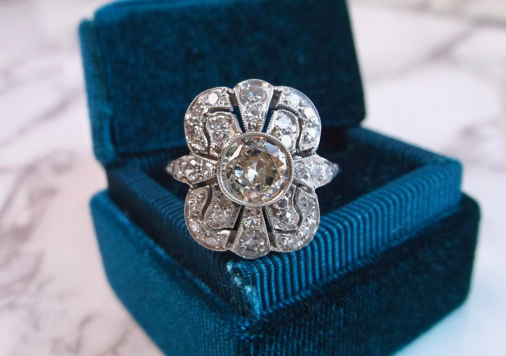Go non-traditional with this fabulous Art Deco diamond ring.  Shop this beauty  HERE .