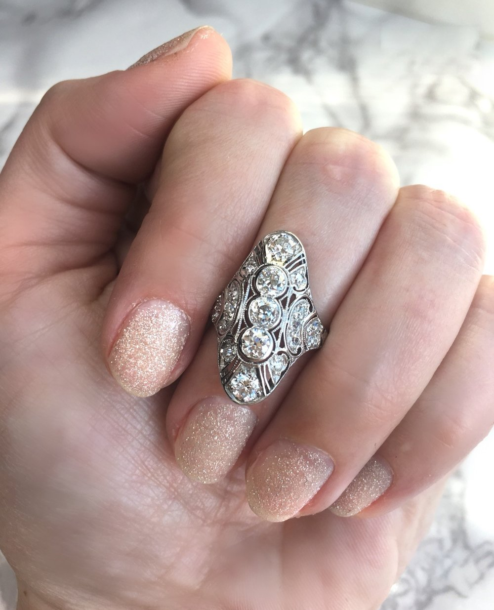 Ring in the new year with a little extra sparkle! Shop this lovely ring  HERE .