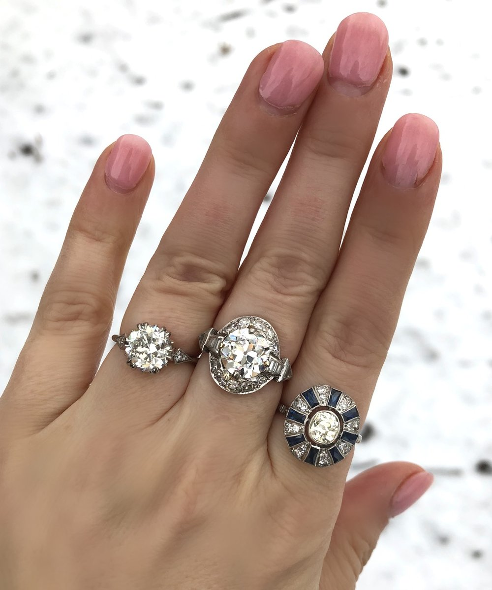We're playing in the snow with these Art Deco beauties! Shop them  HERE ,  HERE , and  HERE .