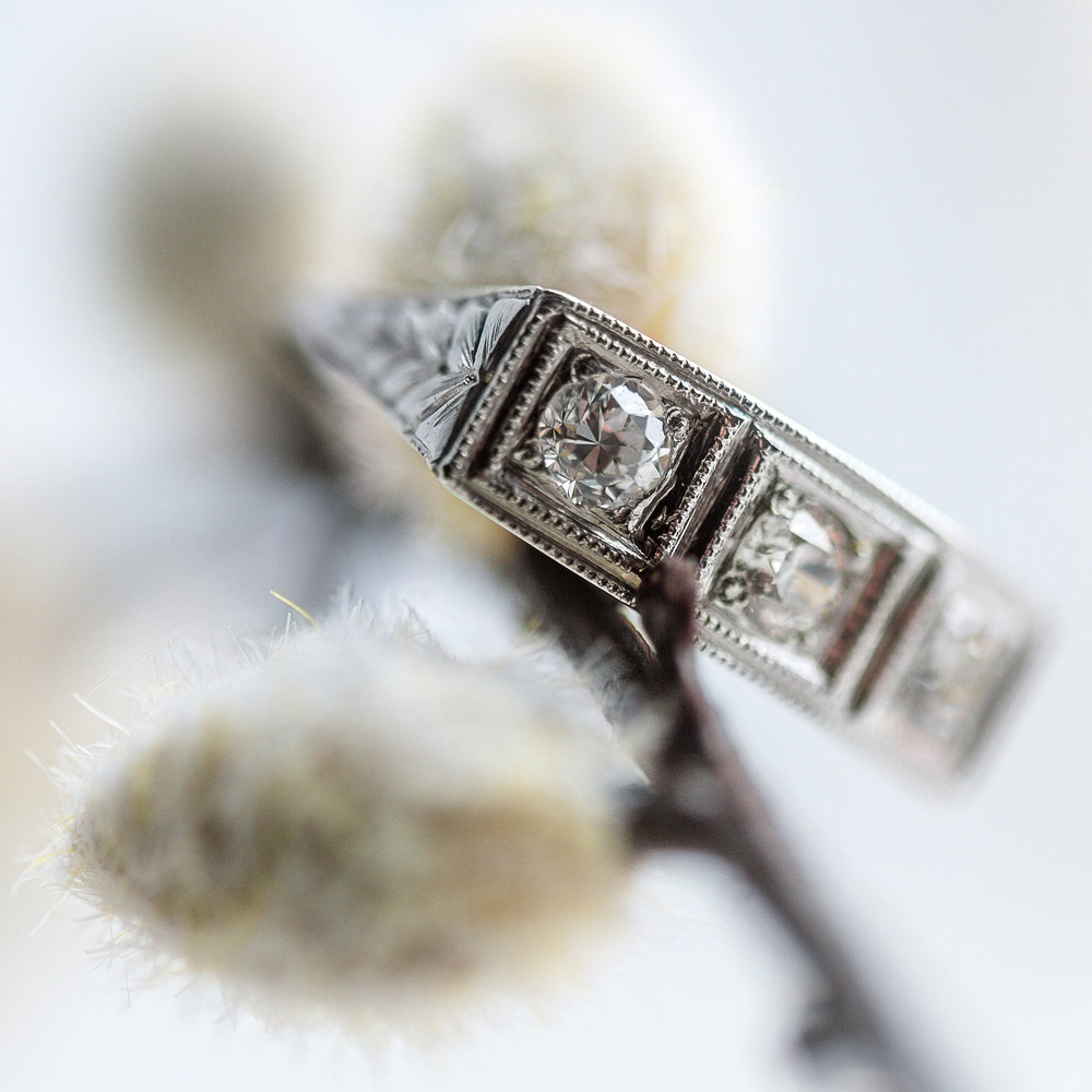 Up close and personal! Shop this beautiful diamond ring  HERE .