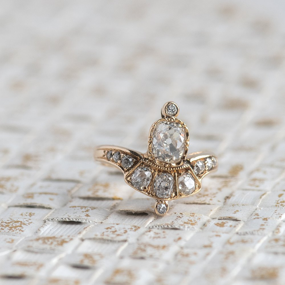 Who would rock this Old Mine cut diamond beauty as their engagement ring?! Shop this stunner  HERE .