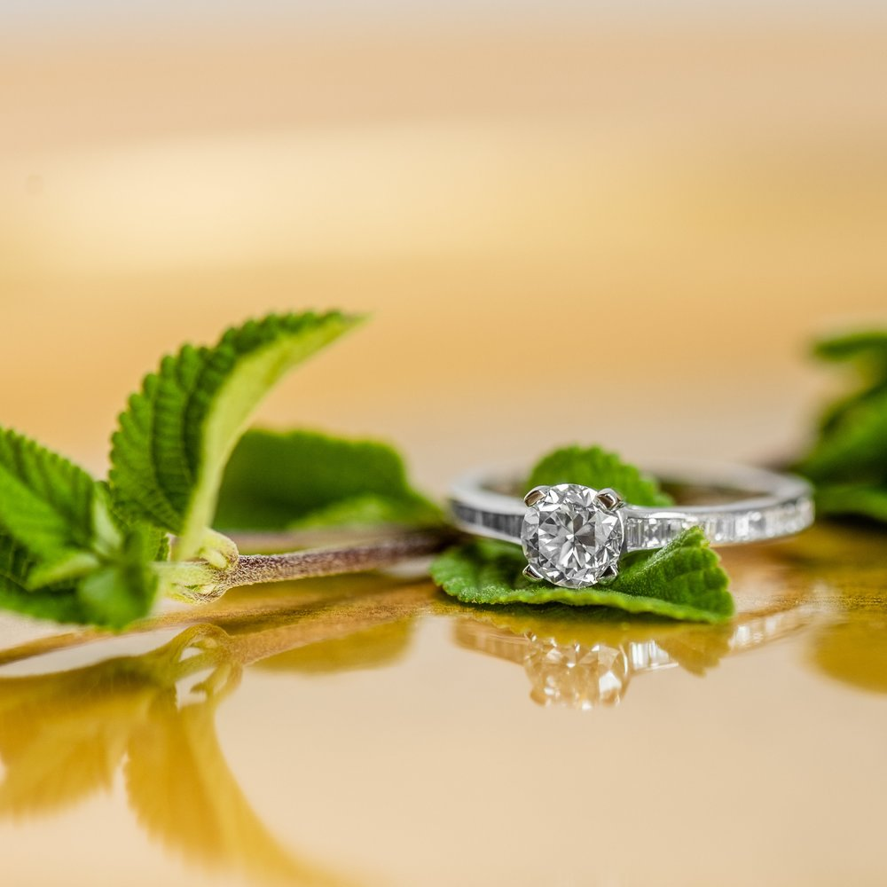 This summer heat calls for a mint julep in hand while basking in the glow of this fabulous Old European cut diamond ring! Shop this beauty  HERE .