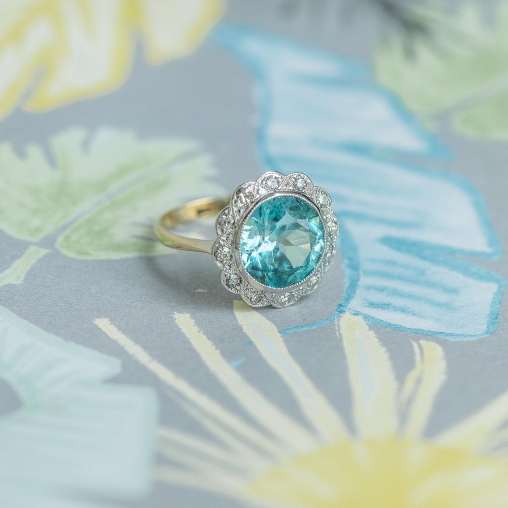 A quick cure for those dreary sky blues? This lovely Edwardian Blue Zircon and Diamond ring, of course! 🌞🌞🌞🌞🌞🌞🌞🌞🌞🌞🌞🌞🌞🌞🌞🌞🌞🌞  Shop this lovely ring  HERE !