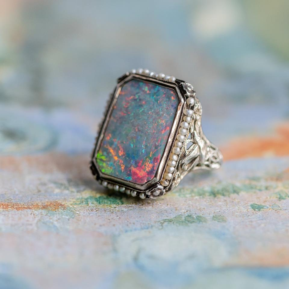 #opalgoals  🌈Shop this gorgeous Opal ring  HERE !