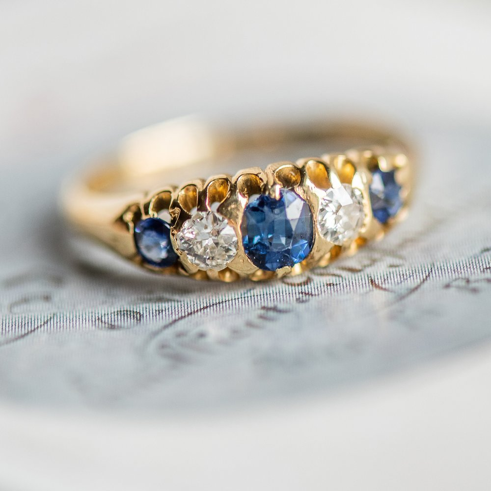 If this Victorian ring could talk it would probably tell us that some things never change. Particularly, that Sapphires will ALWAYS look perfect next to Diamonds.  Shop this timeless ring  HERE  💙