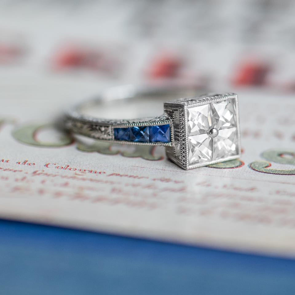 In honor of it being September- we will just leave this gorgeous French Cut Diamond and Sapphire ring here for you to enjoy 😉Shop this beauty  HERE !!