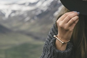 classic jewelry essentials  /  gold weighty bracelet