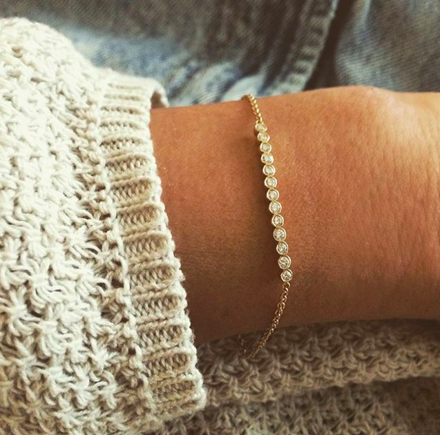 classic jewelry essentials  /  modern take on the classic tennis bracelet
