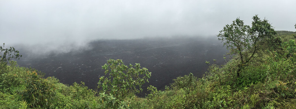 Glimpse of the volcano