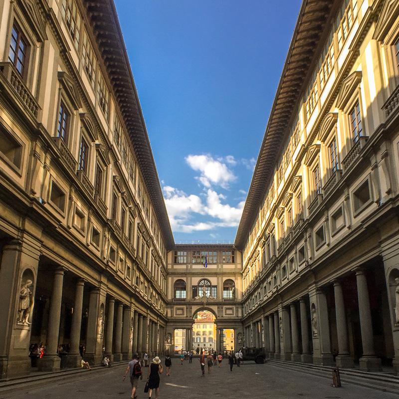 Uffizi Gallery Courtyard, Florence