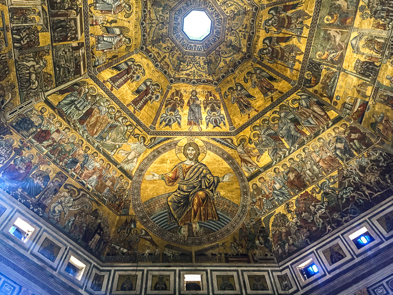 Mosiac ceiling of The Baptistry, Rome