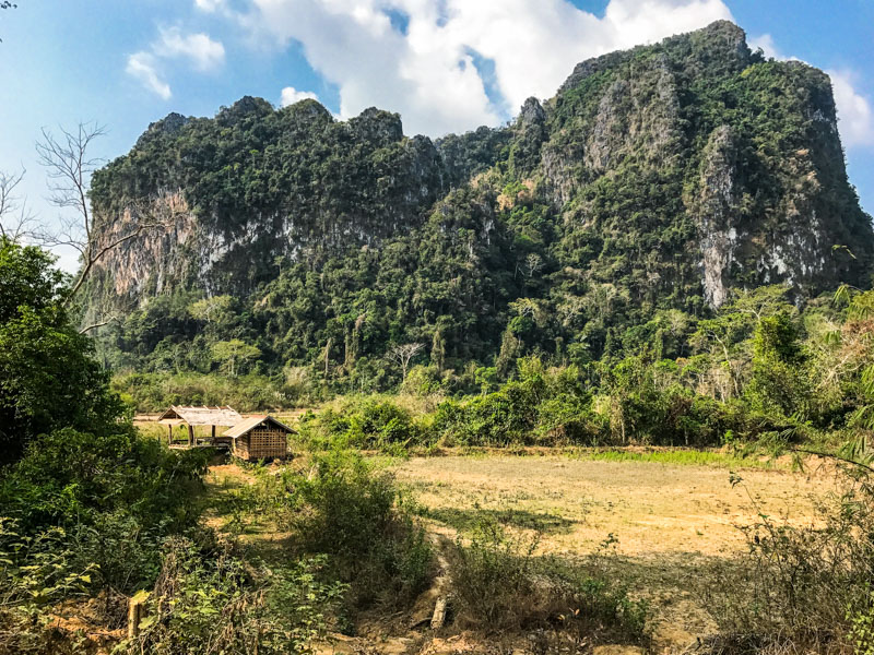 The Laos countryside is just so beautiful.