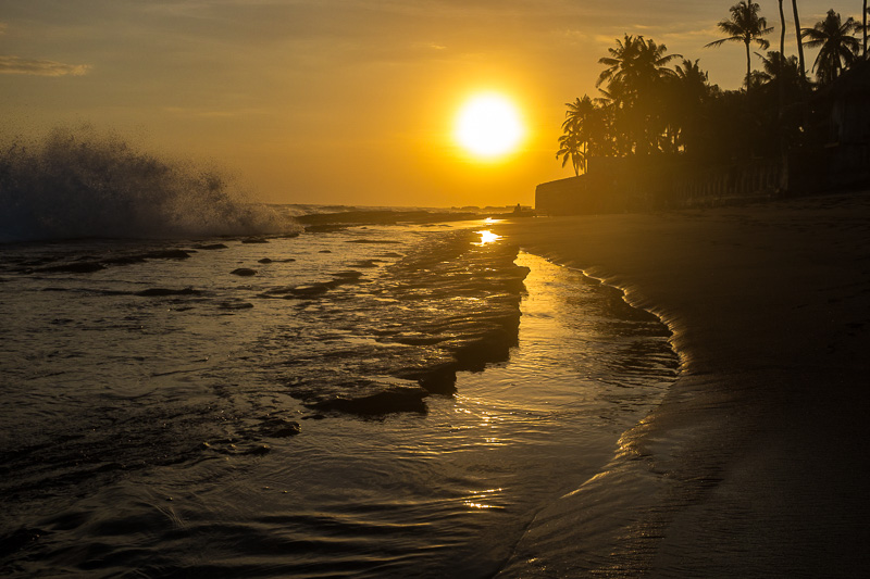 another golden sunset on a Bali beach